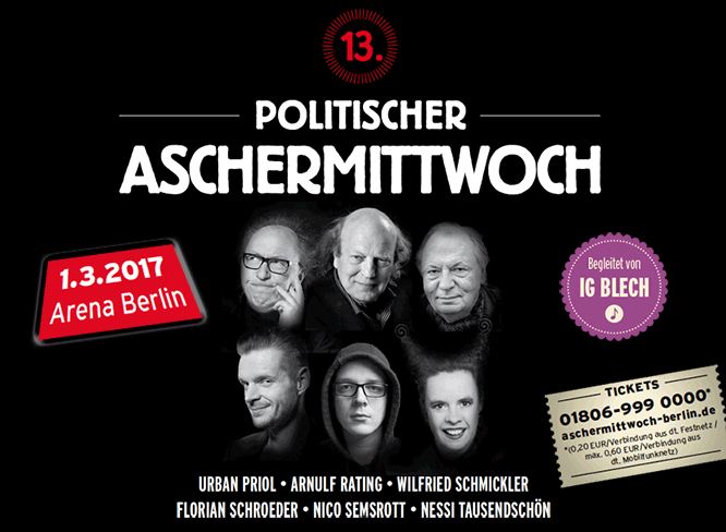 13. Politischer Aschermittwoch in Berlin